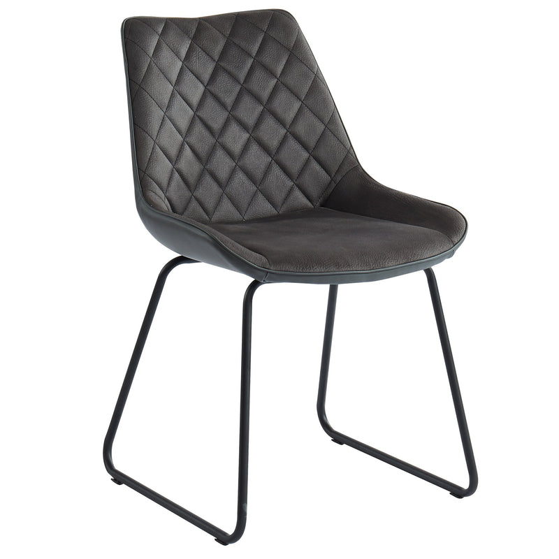 Vince Side Chair, set of 2, in Charcoal - sydneysfurniture