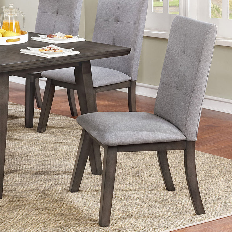 Ash Side Chair, set of 2, in Grey - sydneysfurniture