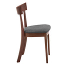 Onic Side Chair, set of 2, in Walnut & Grey - sydneysfurniture