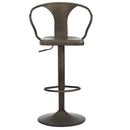Astro Adjustable Stool in Gunmetal - sydneysfurniture