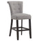 Velma 26'' Counter Stool, set of 2, in Grey with Coffee Legs - sydneysfurniture
