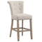 Velma 26'' Counter Stool, set of 2, in Beige with Vintage Oak Legs - sydneysfurniture