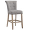 Velma 26'' Counter Stool, set of 2, in Grey with Vintage Oak Legs - sydneysfurniture