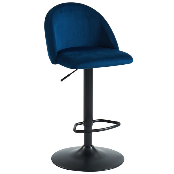 Star Air Lift Stool in Blue - sydneysfurniture