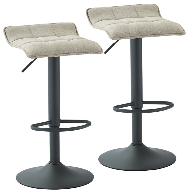 Pluto Air Lift Stool, set of 2, in Beige - sydneysfurniture