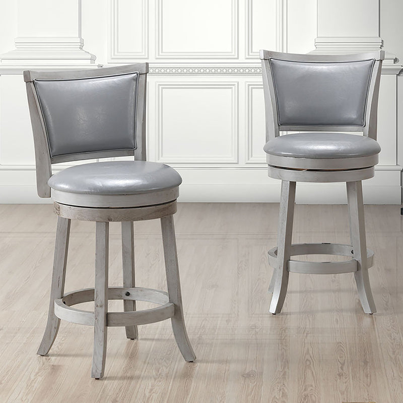 Ron 26'' Counter Stool, set of 2, in Grey - sydneysfurniture