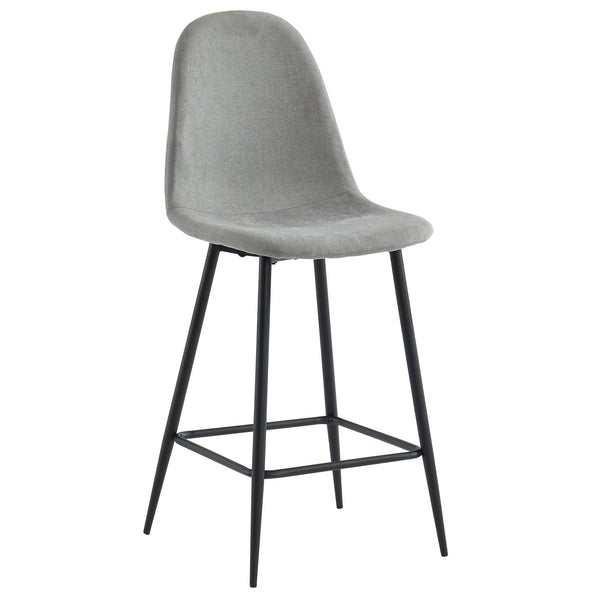 Tessa 26'' Counter Stool, set of 2, in Grey/Black Legs - sydneysfurniture