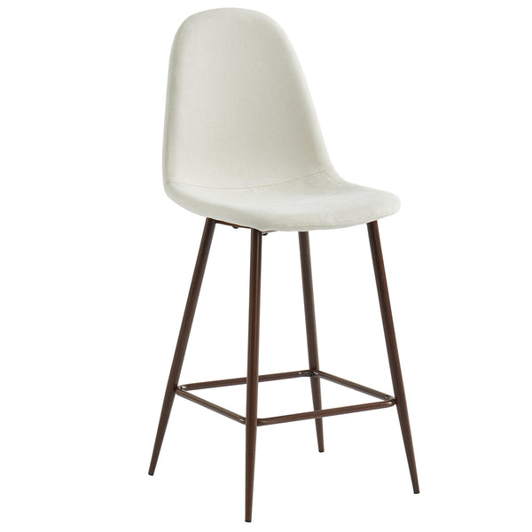 Tessa 26'' Counter Stool, set of 2, in Beige/Walnut Legs - sydneysfurniture