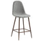 Tessa 26'' Counter Stool, set of 2, in Grey/Walnut Legs - sydneysfurniture