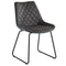 Zedd/Vince 7pc Dining Set, Charcoal - sydneysfurniture