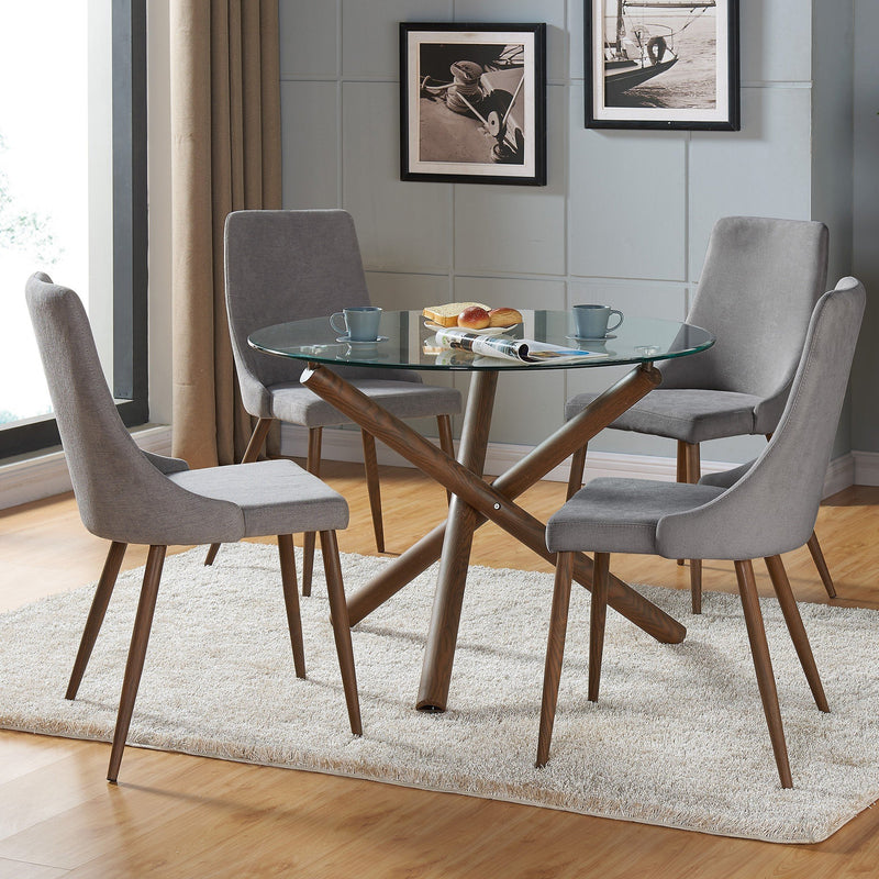 Rocco/Nora 5pc Dining Set, Grey - sydneysfurniture