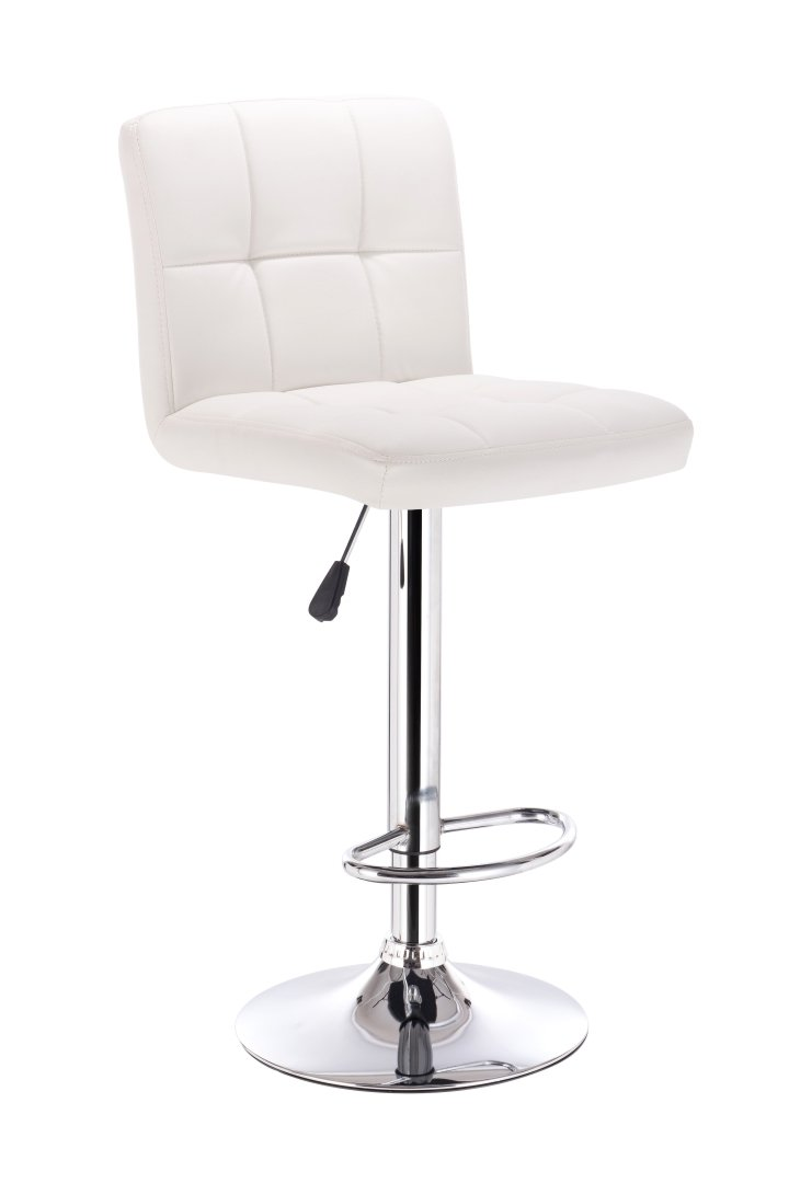 Bar Stool LS-1101V WHITE - Furniture Warehouse Brampton