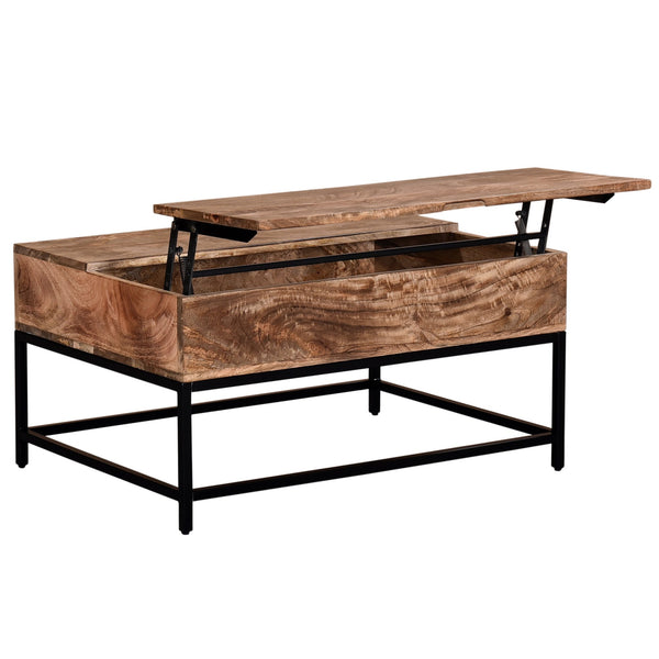 Jas Lift-Top Coffee Table in Natural Burnt - sydneysfurniture