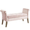 Alice Storage Bench in Blush - sydneysfurniture