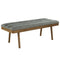 Paul Bench in Grey/Washed Grey Legs - sydneysfurniture