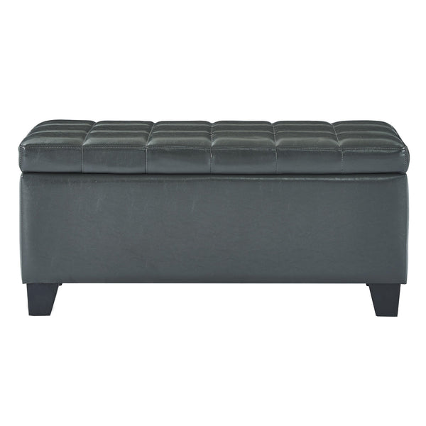 Wynn Rectangular Storage Ottoman in Grey - sydneysfurniture