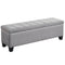 Paige Rectangular Storage Ottoman in Grey - sydneysfurniture