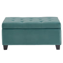 Jas Rectangular Storage Ottoman in Teal - sydneysfurniture