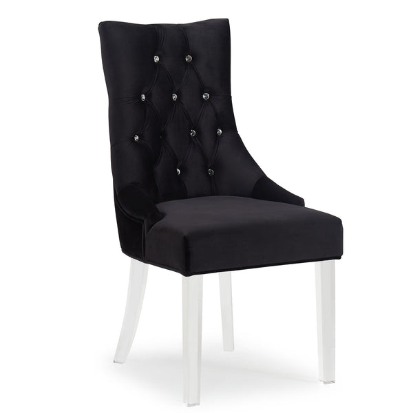 Cavani Accent & Dining Chair in Black - sydneysfurniture