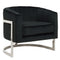 Black Velvet Accent Chair - Furniture Warehouse Brampton