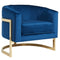 Blue and Gold Accent Chair - Furniture Warehouse Brampton