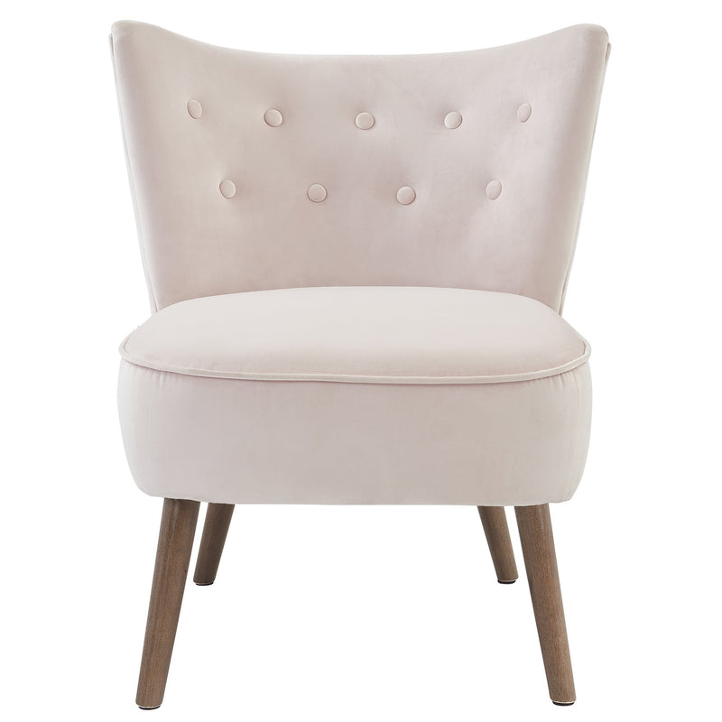 Ella Accent Chair in Blush - sydneysfurniture