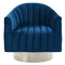 Tina Accent Chair in Blue & Silver - sydneysfurniture