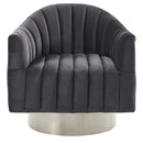 Tina Accent Chair in Grey & Silver - sydneysfurniture