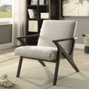 Beige Accent Chair with Arms - Furniture Warehouse Brampton