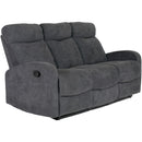 Sofa Set 1808 Grey Fabric 5 Recliners