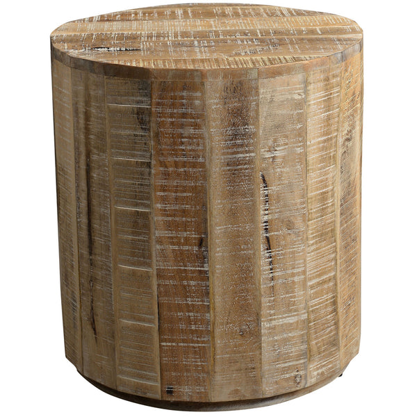 Eva Accent Table in Distressed Natural - sydneysfurniture
