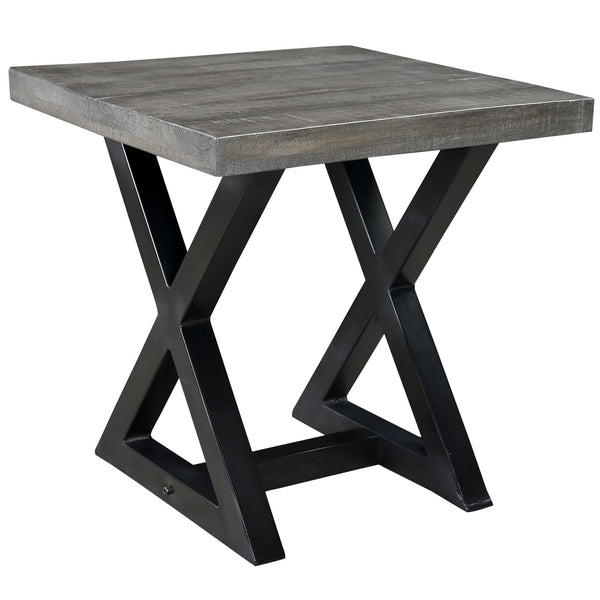 Zedd Accent Table in Distressed Grey - sydneysfurniture