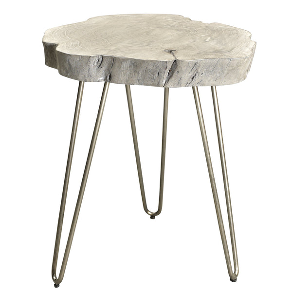 Alina Accent Table in Light Grey - sydneysfurniture