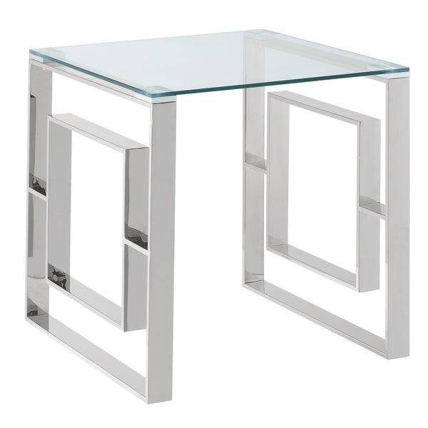 Rose Accent Table in Silver - sydneysfurniture
