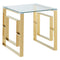 Rose Accent Table in Gold - sydneysfurniture