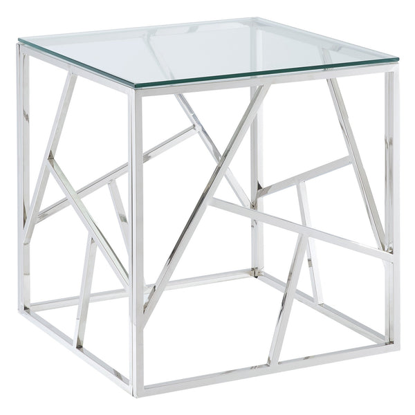 June Accent Table in Silver - sydneysfurniture