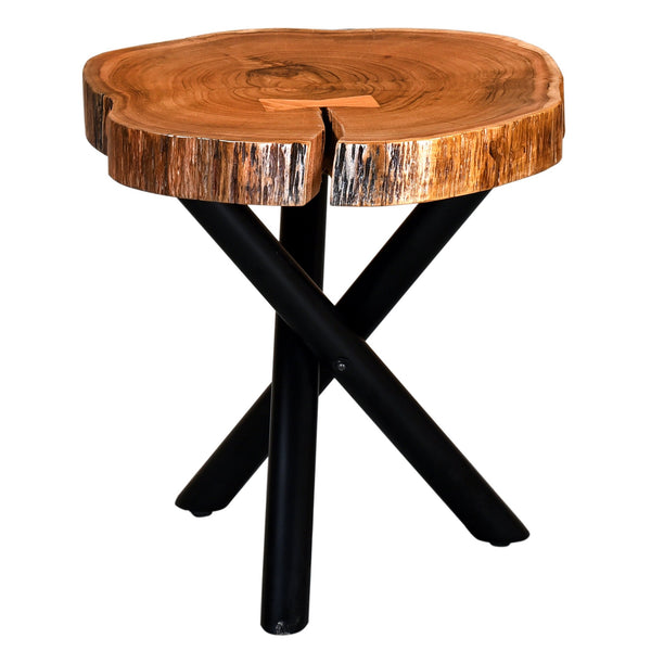 Shlok Accent Table in Natural with Black Legs - sydneysfurniture