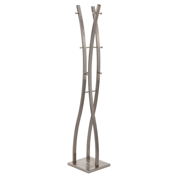 Lina Coat Rack in Brushed Nickel - sydneysfurniture