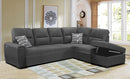 Grey Sectional Sleeper | Couch with Pull out bed | L-Shape sofa bed