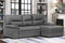 6812 Sleeper Sectional With Storage Chaise Facing Right (Grey)