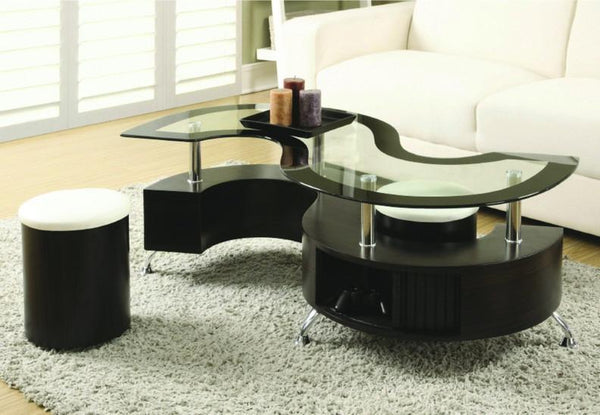 IF-2050 S-Shape coffee table with two stools - Furniture Warehouse Brampton