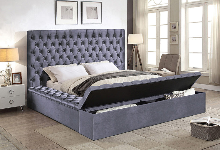 Triple Storage Velvet Bed IF-5790 - Furniture Warehouse Brampton