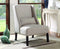 Beige Accent Wing Chair - Furniture Warehouse Brampton
