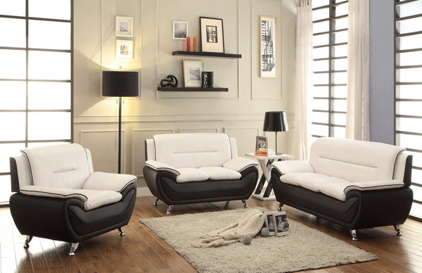 Speedy Cream Chocolate Sofa, Loveseat and Chair Combo