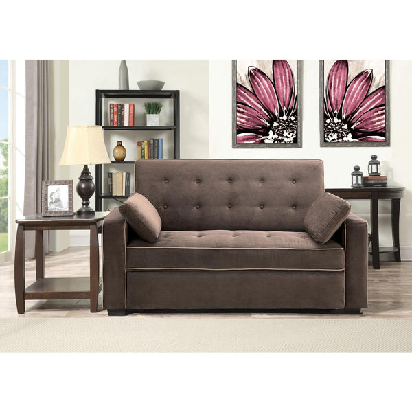 Brown Pull Out Love-seat Bed