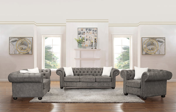 3016 Tufted Sofa Set