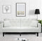 White or Burgundy Convertible Sofa Bed Split Back