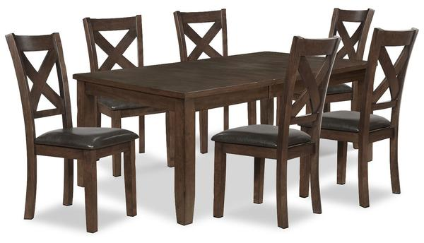 X-Back Dinette 7pc Set - Furniture Warehouse Brampton
