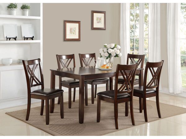 5504 Vegas Dinette Set Table + 6 Chairs