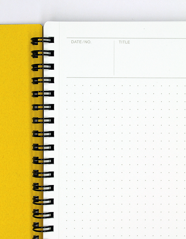Maruman Mnemosyne N104 Notebook B5 - Dot Grid Closeup